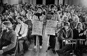 Protest at banning of trade unions at GCHQ. Rally to discuss campaign against ban - NLA - 23-02-1984