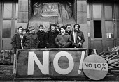 FBU picket, Bootle, Liverpool, picketing their fire station towards the end of the strike, 1978 NO to 10 - NLA - 1970s,1978,activist,activists,adult,adults,Bootle,campaigner,campaigners,DISPUTE,DISPUTES,EARNINGS,EQUALITY,FBU,fire,fire brigade,Firefighter,firefighters,fireman,Firemen,fires,Income,INCOMES,INDUSTRI