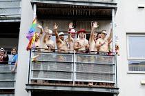 The Brighton Pride march through Brighton, East Sussex - Nick Rain - 02-08-2014