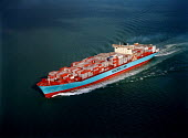 Aerial view of the Maersk Line container vessel Regina Maersk. - Paul Carter - 04-10-1996