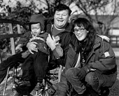 Portrait of a disabled father, with his wife and young son. - Paul Carter - 14-12-1993