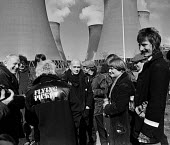 The pop group Flying pickets join miners at Drax power station, North Yorkshire, Dave Gittins - Peter Arkell - ,1980s,1984,ACE,arts,band bands,CLJ,confront,confrontation,confronted,confronting,culture,DISPUTE,DISPUTES,Drax,Flying,flying picket,INDUSTRIAL DISPUTE,mass picket,melody,member,member members,members