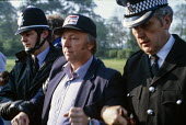 Arthur Scargill is arrested at Orgreave coking plant, South Yorkshire, at a mass picket during the miners' strike - Peter Arkell - 30-05-1984