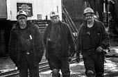 Kent miners at Betteshanger colliery during work to rule just before 1974 strike - Peter Arkell - 1970s,1974,capitalism,capitalist,change,Coal Industry,Coal Mine,coalfield,coalindustry,collieries,colliery,coming off,disputes,EBF,Economic,Economy,employee,employees,Employment,INDUSTRIAL DISPUTE,Ind