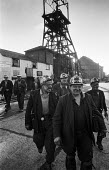Kent miners at Betteshanger colliery in a confident mood during work to rule just before 1974 strike - Peter Arkell - 1970s,1974,capitalism,capitalist,change,Coal Industry,Coal Mine,coalfield,coalindustry,collieries,colliery,coming off,disputes,EBF,Economic,Economy,employee,employees,Employment,INDUSTRIAL DISPUTE,Ind