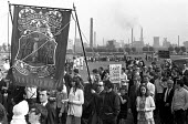 Protest against closure of Irlam steelworks, near Manchester, with nearly 4,400 jobs at stake. Almost everyone in Irlam turned out for the march through the town and past the steelworks. The plant was... - Peter Arkell - 1970s,1971,activist,activists,adult,adults,against,banner,banners,boy,boys,British Steel,BSC,CAMPAIGN,campaigner,campaigners,CAMPAIGNING,CAMPAIGNS,child,CHILDHOOD,children,closed,closing,closure,closu