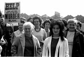 Protest against closure of Irlam steelworks, near Manchester, with nearly 4,400 jobs at stake. Almost everyone in Irlam turned out for the march through the town and past the steelworks. The plant was... - Peter Arkell - 1970s,1971,activist,activists,against,British Steel,BSC,CAMPAIGN,campaigner,campaigners,CAMPAIGNING,CAMPAIGNS,closed,closing,closure,closures,communities,community,DEMONSTRATING,demonstration,DEMONSTR