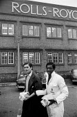 Apprentices at Rolls Royce, Derby, three days after the announcement of its collapse. The Heath government bailed the company out through a nationalisation. - Peter Arkell - 1970s,1971,apprentice,apprentices,apprenticeship,apprenticeships,BAME,BAMEs,bankrupt,bankruptcy,black,BME,bmes,cities,city,company,cultural,diversity,EBF,Economic,Economy,employee,employees,Employment,ethnic,ethnicity,FACTORIES,factory,government,job,jobs,lbr,leaving,male,man,men,minorities,minority,multi,multi cultural,MULTI RACIAL,multicultural,multiracial,nationalisation,people,person,persons,poc,RB211,Rollys,Royce,SERVICE,SERVICES,staff,TRAINEE,TRAINEES,TRAINING,urban,white,work,work issues,worker,workers,working,YOUNG,YOUNGER,YOUTH
