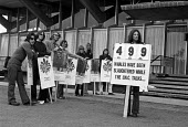 Save the Whales. Vigil outside International Whaling Commission HQ in London, calling for an end to the killing of whales. - Peter Arkell - 03-07-1972