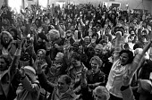 Equal pay strike at Trico, West London. The 350 women, members of the AUEW, and by this time supported by many of the men, vote to return to work after 3 months on strike and with nearly all of their... - Peter Arkell - ,1970s,1976,AUEW,BAME,BAMEs,black,BME,bmes,CELEBRATE,CELEBRATING,celebration,celebrations,cultural,democracy,disputes,diversity,enthusiasm,enthusiastic,Equal Pay,Equal Rights,equality,ethnic,ethnicity