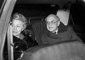 Neoliberal economist Milton Friedman arriving at Downing Street with to meet Margaret Thatcher. He went on to become her main advisors on economic policy, London - Peter Arkell - 1980,1980s,ADVICE,ADVISE,ADVISER,advisers,advising,advisor,ADVISORS,ARRIVAL,arrivals,arrive,arrived,arrives,arriving,CONSERVATIVE,Conservative Party,conservatives,Downing Street,economist,Friedman,Lon