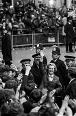 Margaret Thatcher waving to supporters as she arrives at 10 Downing Street after her 1979 election victory, just before making her notorious speech quoting St. Francis of Assisi. - Peter Arkell - 04-05-1979
