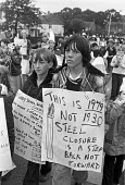 Corby Festival, protest against rundown and closure of the steelworks, Corby 1979 - Peter Arkell - 1970s,1979,activist,activists,adolescence,adolescent,adolescents,against,boy,boys,British Steel,BSC,CAMPAIGN,campaigner,campaigners,CAMPAIGNING,CAMPAIGNS,child,CHILDHOOD,children,closed,closing,closur