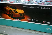 Vauxhall billboard with anti car graffiti. Bristol - Paul Box - 02-05-2001