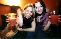 women enjoy a drink at The Sugar Loaves Pub in Bristol - Paul Box - 23-11-2001