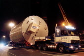 A crane lifts a huge container from a lorry for export - Paul Box - 20-11-2001