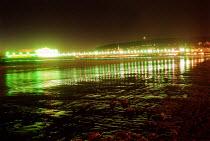 The pier at night Weston Super Mare beach - Paul Box - 10-09-2001
