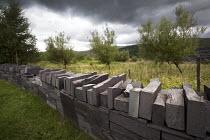 A slate wall at Welsh Slate, Penrhyn quarry, Bethesda, North Wales. - Paul Box - 12-08-2013