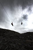 Zip World Velocity, longest and fastest zip line in Europe at Penrhyn quarry, Bethesda, North Wales. - Paul Box - 13-08-2013