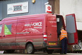 A rural post office opens in Gwilliams garden machinery store, Edington, Somerset - Paul Box - 2010s,2013,driver,DRIVERS,DRIVING,EBF,Economic,Economy,employee,employees,Employment,garden,GARDENS,in,job,jobs,lbr,local,MAIL,new,opening,parcelforce,people,Post Office,Post Office,Postal Service,pub