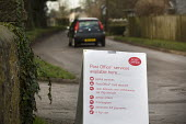 A rural post office opens in Gwilliams garden machinery store, Edington, Somerset - Paul Box - 2010s,2013,board,EBF,Economic,Economy,garden,GARDENS,in,local,MAIL,new,opening,Post Office,Post Office,Postal Service,public services,ROYAL,royal mail,royal mail,rural,sandwich,sandwich board,sandwich