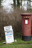 A rural post office opens in Gwilliams garden machinery store, Edington, Somerset - Paul Box - 2010s,2013,box,boxes,EBF,Economic,Economy,garden,GARDENS,in,local,MAIL,new,pillar box,post,Post Office,Post Office,Postal Service,postbox,public services,ROYAL,royal mail,royal mail,rural,SERVICE,SERV