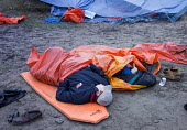 The stag party, sleeping in the dunes at Poppit sands, Cardigan, Pembrokeshire, Wales. - Paul Box - 08-09-2013