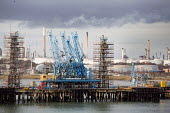 Fawley Refinery refinery terminal, Oil storage tanks, Southampton Water - Paul Box - 07-01-2015