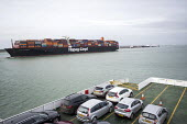 Essen Express near Southampton and the Isle of Wight - Paul Box - 2010s,2015,AUTO,AUTOMOBILE,AUTOMOBILES,AUTOMOTIVE,boat,boats,capitalism,capitalist,car,cargo,cars,container,containers,EBF,Economic,Economy,export,exporting,exports,ferries,ferry,freight,Hapag-Lloyd l