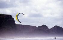 Kite surfer Watergate beach Cornwall - Paul Box - 07-06-2002