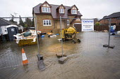 A newly developed house is flooded, Wraysbury, Berkshire after the Thames burst its banks. - Paul Box - 12-02-2014