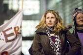 Caroline Criado-Perez journalist and feminist activist Protest outside The Home Office, Shine a light on Yarl's Wood and the indefinite detention of refugee women in the UK campaign - Paul Box - 13-02-2014