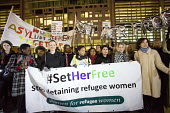 Protest outside The Home Office, Shine a light on Yarl's Wood and the indefinite detention of refugee women in the UK campaign - Paul Box - 13-02-2014