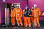 Crossrail Workers, Oxford Street, London - Paul Box - 15-02-2014