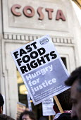 Launch of the Fast Food Rights campaign Oxford street, London - Paul Box - 15-02-2014