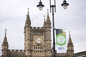 Temple Meads railway station, Bristol. European Green Capital. - Paul Box - 2010s,2014,ACE,architecture,arts,banner,banners,buildings,cities,city,Council Services,Council Services,culture,eni,environment,Environmental Issues,local authority,nature,public services,RAIL,railway