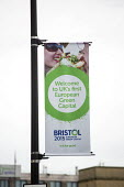 Temple Meads railway station, Bristol. European Green Capital. - Paul Box - 2010s,2014,banner,banners,cities,city,Council Services,Council Services,eni,environment,Environmental Issues,local authority,nature,public services,RAIL,railway,RAILWAYS,service,SERVICES,station,STATI