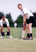 Hanham High school, pupils playing a game of cricket - Paul Box - 15-06-2001