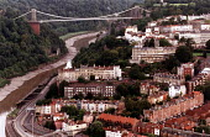 Clifton Suspension Bridge over the Avon Gorge, designed by Isambard Kingdom Brunel. Bristol. - Paul Box - 15-08-2002