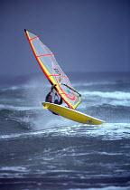 Windsurfer taking off, Weston super Mare. - Paul Box - 14-09-2002