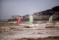 Windsurfers, Weston super Mare. - Paul Box - 14-09-2002