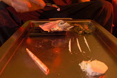 A tray of cocaine and grass - Paul Box - 11-01-2003
