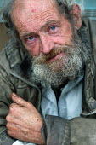 A homeless man Clifton Bristol - Paul Box - 10-10-2003