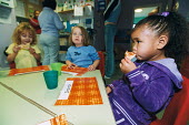 New opportunities fund child care programme. Easton Community Children's centre, Easton , Bristol - Paul Box - 2000s,2003,at,BAME,BAMEs,black,BME,bmes,CARE,carer,carers,child,Child Care,childcare,CHILD-CARE,CHILDHOOD,CHILDMINDING,CHILDREN,cities,city,communities,Community,CRECH,creche,CRECHES,cultural,diversit