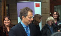 Tony Blair meeting the public, visit to Barton Hill, Bristol. - Paul Box - 2000s,2003,big,communities,community,consultation,CONSULTING,conversation,Labour Party,meeting,MEETINGS,minister,mp,people,POL Politics,prime,public,Tony Blair