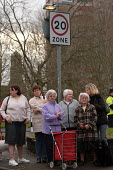 oap's wait see Tony Blair at visit to Barton Hill, Bristol. 20 mph zone - Paul Box - 2000s,2003,adult,adults,age,ageing population,big,calming,consultation,CONSULTING,conversation,Council Services,Council Services,elderly,FEMALE,grey,haired,Labour Party,local authority,MATURE,OAP,OAPS