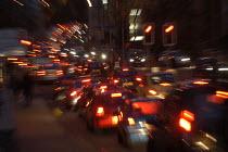 Rush hour traffic, Bristol City centre. - Paul Box - 28-11-2003