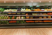Fruit and vegetables at a Stokes grocery store, Bath. - Paul Box - 01-11-2003