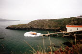 RNLI Lifeboat launching from the slipway, St Justnians, Pembrokeshire - Paul Box - 14-09-2000