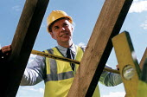 Site manager. Restoration of Whatley Manor, Malmesbury. Midas construction site. - Paul Box - 14-10-2002